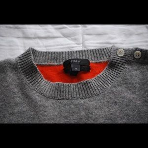 J. Crew cashmere sweater with elbow patches